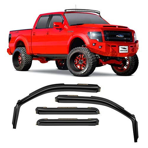 Voron Glass in-Channel Extra Durable Rain Guards for Trucks Ford F-150 2009-2014...
