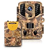 Trail Camera Wireless Alarm, 3 Infrared sensors time-Lapse and 0.2s Trigger Speed Wildlife Scouting Camera 16MP/1080P Full HD Night Vision Wildlife Hunting Camera Waterproof IP66