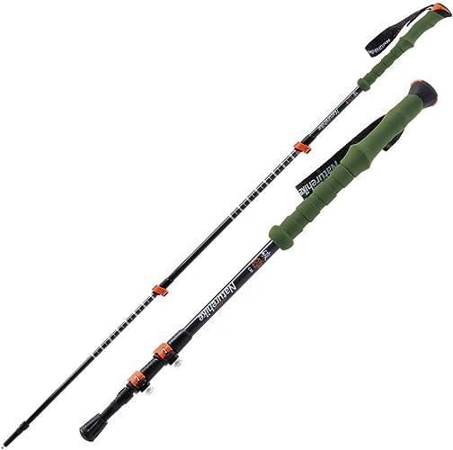 LIANCANG-poles Batons de randonnée pour baton de randonnée pédestre Alpenstock Ajustable Ultra-léger en Fibre de Carbone à 3 Sections
