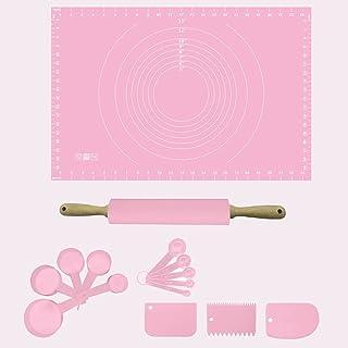 AACXRCR Ensemble de cuisson inclut le tapis de pâtisserie en silicone avec des mesures, une goupille en silicone, des tass...