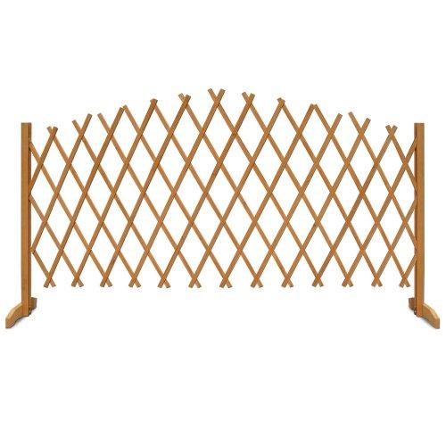 Deuba Gartenzaun Rankhilfe Rankgitter Holzzaun Pflanzengitter | 200 cm | zusammenfaltbar | variabel verstellbar - 5