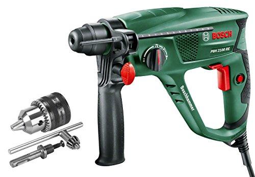 Bosch PBH 2100 RE - Martillo perforador + Bosch - Adaptador SDS-plus con portabrocas
