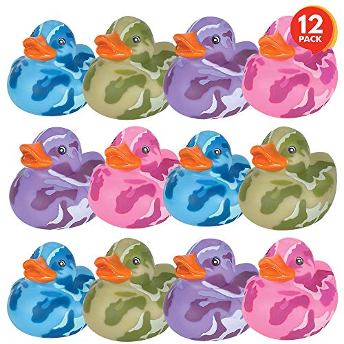 Review Of ArtCreativity 2 Inch Camouflage Rubber Duckies, Pack of 12, Cute Duck Bath Tub Pool Toys i...