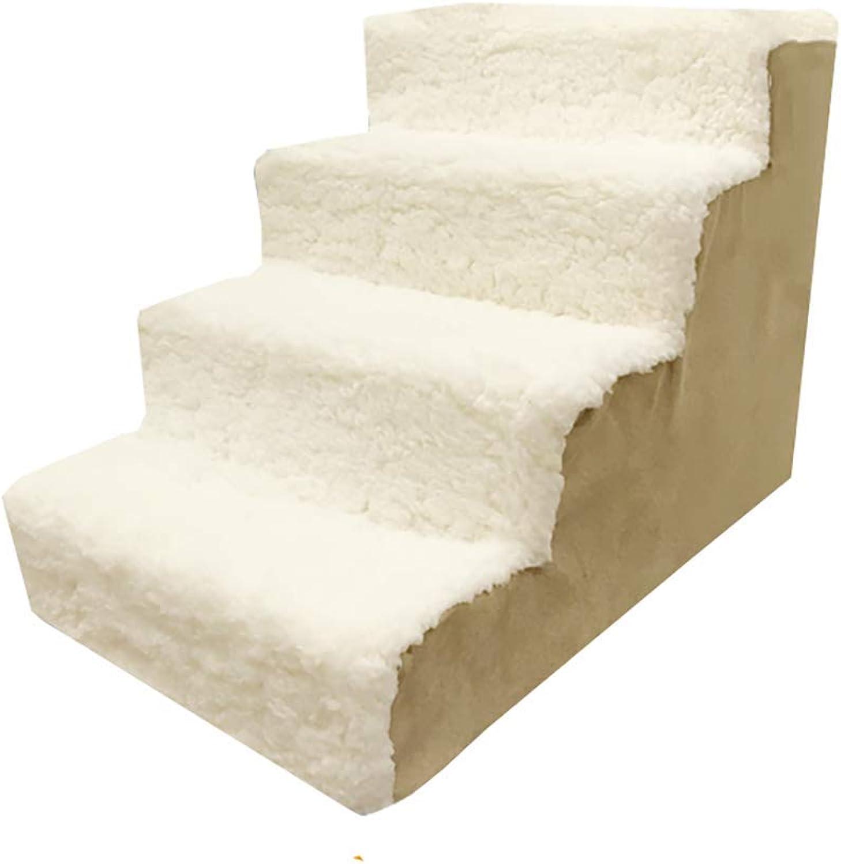 CJH Dog rampsDog stair, pet stair cat dog stair washable sponge ladder step on the bed ladder
