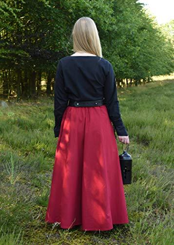 Mittelalterlicher Rock, weit ausgestellt, rot aus Baumwolle Größe S - 6