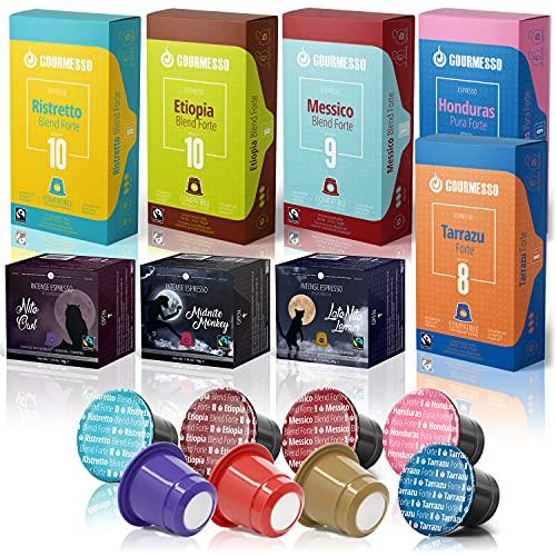 Gourmesso High Intensity Box - 80 Nespresso kompatible Kaffeekapseln - 100% Fairtrade