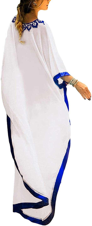 AILUNSNIKA Women Loose Kaftan Swimsuit Cover Up Beach Long Casual Caftan Dress