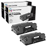 LD Compatible Toner Cartridge Replacement for Samsung MLT-D205L High Yield (Black, 2-Pack)