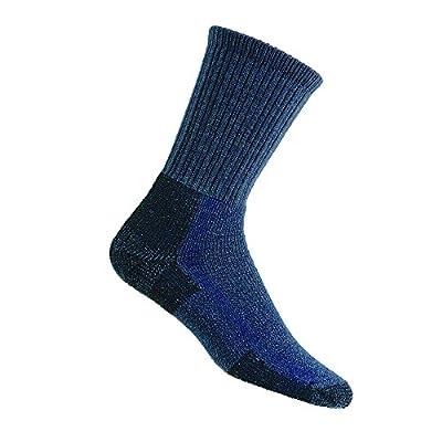 Thorlos Unisex KLT Hiking Thick Padded Crew Sock, Blue, Large