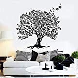 Creatividad árbol pared calcomanía hoja rama hermoso pájaro decoración del hogar sala de estar dormitorio ventana pegatina extraíble arte Mural
