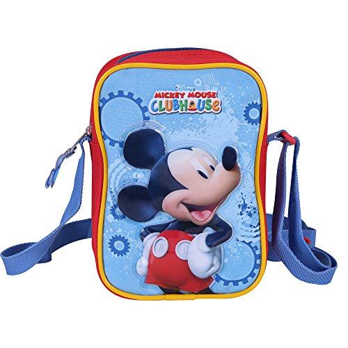 PERLETTI Kinder Umhängetasche für Jungen mit Motiven aus Mickey Mouse - Kleine Umhänge...