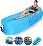 LEJIA Inflatable Lounger, 2020 Upgrade Waterproof Anti-Air Leaking Air Sofa with Portable Package, Inflatable Couch and Air Chair for Travelling, Camping, Hiking and Beach Parties,Blue
