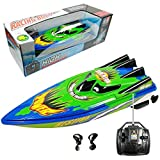 Rc Boat for Kids and Adults, Remote Control Speedboat for Pools and Lakes