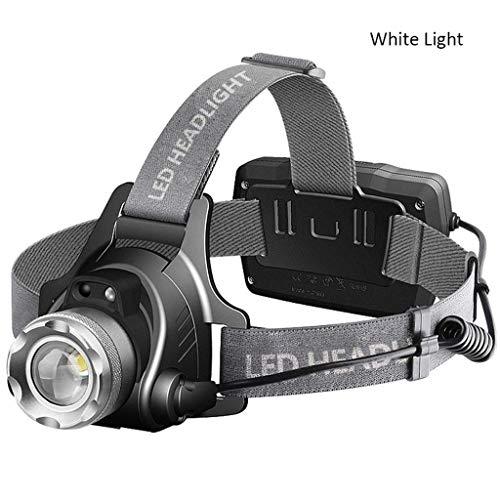 RMXMY Lampe Frontale à LED, Lampe Frontale à LED Phare Super Bright Head Lampe Flash Light Casque pour la Course Camping Randonnée Pêche