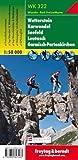 Wetterstein - Karwendel - Seefeld - Leutasch - Garmisch Partenkirchen, Wanderkarte 1:50.000, WK 322: Wandel- en fietskaart 1:50 000 (freytag & berndt Wander-Rad-Freizeitkarten)