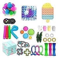フィジットのおもちゃセット、30枚のパックTik Tok Sensory Toysパック、子供の大人のための格安のフィジットボックス、ストレスの軽減と反不安のフィジットのおもちゃツール(30pcs) (Color : 6309-e7, Size : 30PCS)