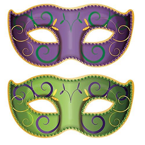Beistle Jumbo Mardi Gras Mask Cutouts