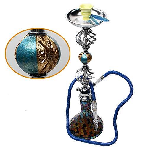 gao-bo Pipa de Agua Shisha Pipa de Tabaco desmenuzado, Artificiales Mosaico de Botellas, tuberías y Accesorios de Pipa de Agua, Adecuado for Bares, KTV, 74cm