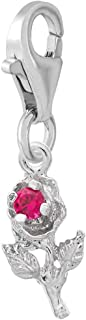 Rembrandt Charms Rose Charm with Lobster Clasp