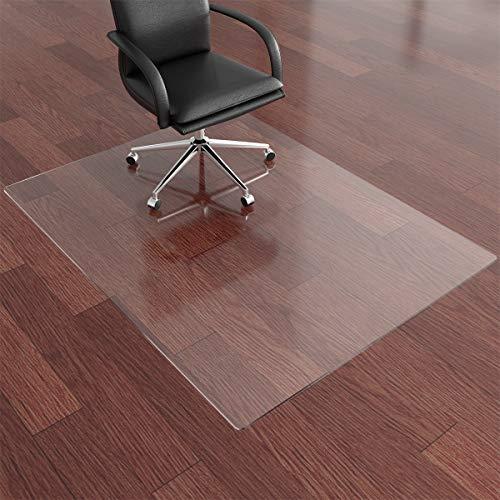 Newgam - Alfombrilla para silla de oficina (47 x 36 x 3 mm) de grosor, totalmente transparente para escritorio, alfombrilla de suelo duro, se puede utilizar en suelo de moqueta