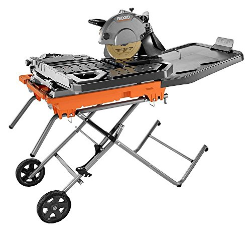 RIDGED FOLDABLE 10 in. Wet Tile Saw with Stand And Wheels