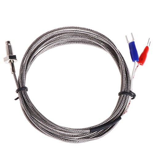 BIlinli Gewinde M6 Schraubensonde Temperatursensor Thermoelement K Kabel 2M 0-600 ℃