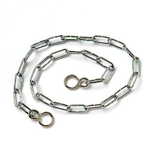 Merriway BH02253 Link Type Bath Chain with S Hook 450mm 18 inch Chrome Plated
