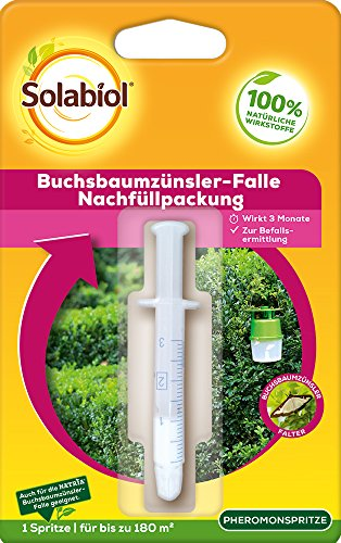 Solabiol Buchsbaumzünsler-Falle Nachfüllpackung, zum Auffüllen der Solabiol Buchsbaumzünsler Falle, 1 Stück