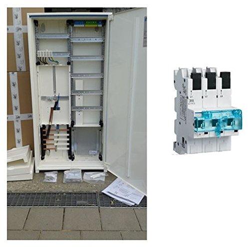 TM: Hager Zählerschrank 1 Zähler 3.HZ verdrahtet mit APZ-Verteilerfeld/ZB323T15 + 1 Hager SLS 50A, für das Einfamilienhaus