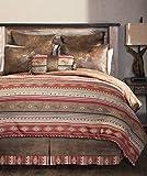 Carstens, Inc Queen Flying Horse 5 Piece Comforter Bedding Set, Brown