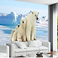 xueshao 壁のカスタム写真の壁紙3Dの子供部屋の漫画のパターンの壁画のホッキョクグマの氷河の壁紙の居間の家の装飾-350X250Cm
