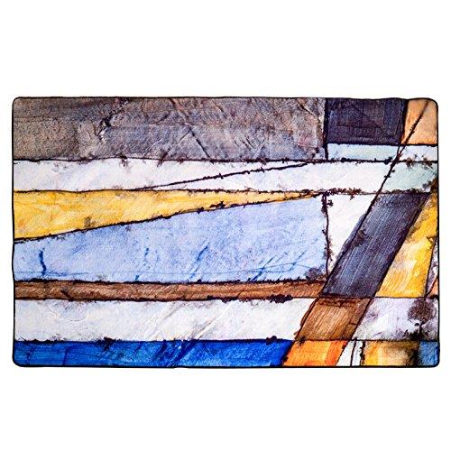 GRENSS Moderner Stil Aquarell Teppich abstrakte Kunst Salon Teppich Rutschfeste Matte für Schlafzimmer/Hotel Große Teppich waschbar Teppich, 2000 mm x 3000 mm
