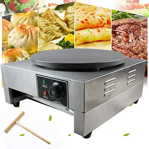 Máquina para hacer crepes, 3000 W, alta calidad, acero inoxidable, para hacer crepes, termostato integrado