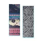 Estera de Yoga 185 * 65 * 0.1 Cm Yoga Mat Toalla Impresión Digital Plegable Portátil Ejercicio Antideslizante Inicio Gimnasio Pad Medio Ambiente Picnic Manta Dorado