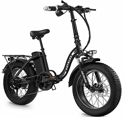 Bicicleta Eléctrica Plegable, Batería De Lones De Litio De 48V 18Ah con Neumático Gordo 20'* 4', 1000W Bicicletas Eléctricas De Montaña Adulto De Ciudad De Largo Alcance