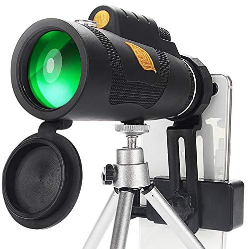 MKDASFD Telescopio 12x50 Potente Bolsa de telescopio monocular con Soporte para teléfono Inteligente Adecuado para Senderismo, Acampada, Turismo