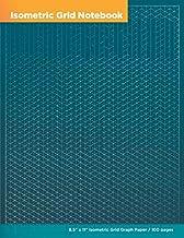 Isometric Grid Notebook: 8.5