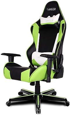 XUERUI 快適 E-スポーツゲームチェアレーシングシート人間工学に基づいた椅子シンプルなモダンリフティング回転チェアグリーン 耐久性のある