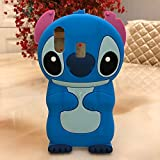 YUJINQ Galaxy A20 Blue Stitch Case Soft Silicone Cute Cartoon Lovely Fashion Cover for Samsung Galaxy A20 Cool Cases for Kids Boys Girls (Stitch,for Samsung A20)