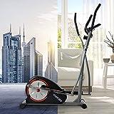 Daverose Bicicleta elíptica con pantalla LCD y soporte, entrenador elíptico portátil para ejercicios en casa con movimiento bidireccional