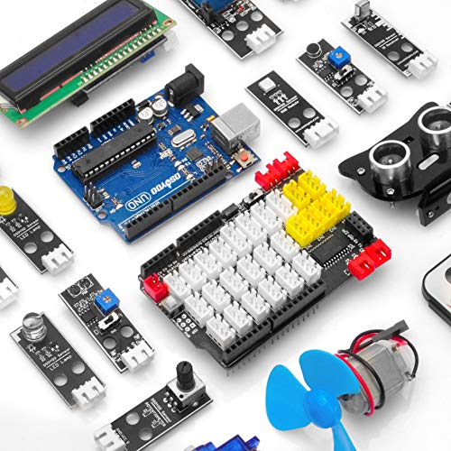 OSOYOO PnP Starter Kit for Arduino | Early STEM Education for Beginner | Ultimate Bundle Includes Plug & Play Development Board Compatible with UNO R3 Board | Create Circuit with Arduino IDE Tutorial