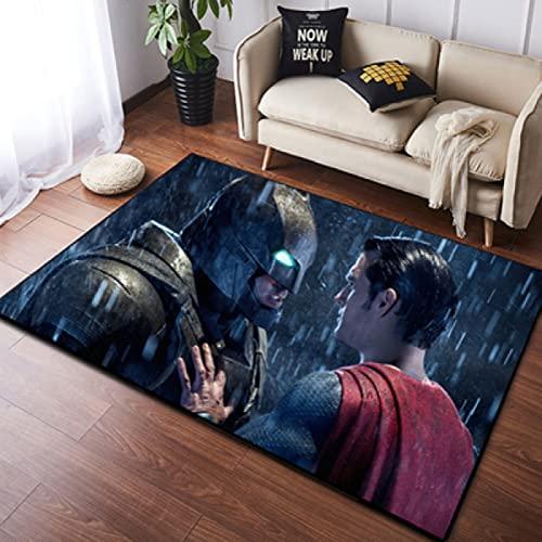 HFDSG Alfombra De Dibujos Animados Dormitorio Sala De Estar Alfombra De Juego para Bebés Serie Marvel Superman Batman Decoración De Habitación Alfombra Rectangular