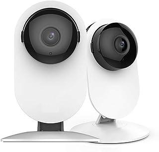 Cámara de Inicio 1080p Sistema de vigilancia de cámara de Seguridad Interior con visión Nocturna para el Monitor de casa