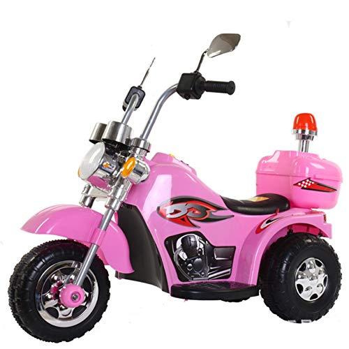 MAGO Kinder elektrische Motorrad-Spielzeug-Baby-Elektro-Dreirad mit Musik (Color : Red)