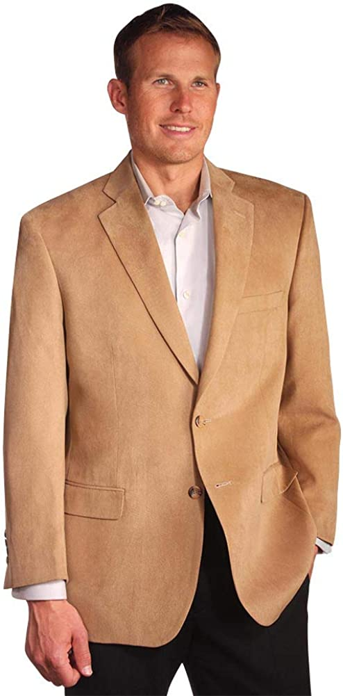 Microfiber Suede Sport Coat to 62 in Short, Regular, Long, X-Long, Portly Sizes