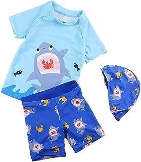 男の子の水着 子供用の水着 ボーイスプリット水着 シックスワンビーチセット 水着水着 (サイズ : S)