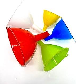 Entonnoir TIJAR - Lot de 5 fenouils en plastique de couleur - Facile à ranger - 5 tailles différentes - Support de rangeme...