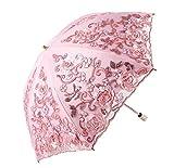 Dentelle Fleur Parapluie Protection UV Mariage Double Couche De Pluie Parasol Dentelle Soleil Parapluie Femmes Dual-Folding A