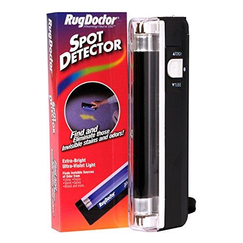 Rug Doctor Detector de Manchas para el médico de la Alfombra, Encuentra Manchas duras con luz Ultravioleta para Uso en Suelos de alfombras, Madera Dura, Azulejos, Muebles y más