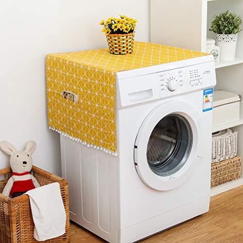 Wasmachine-overtrek wasmachinedeksel, 30 x 90 cm/55 x 130 cm, stofdichte afdekking, multifunctionele stofhoezen met tas, koelkast, wasmachine, magnetron